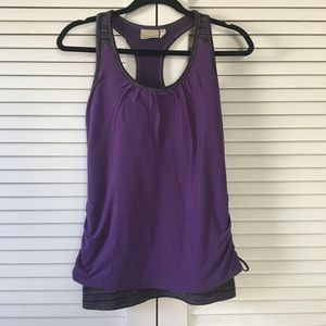 Athleta Royal Pigeon Purple Racerback Tank Small